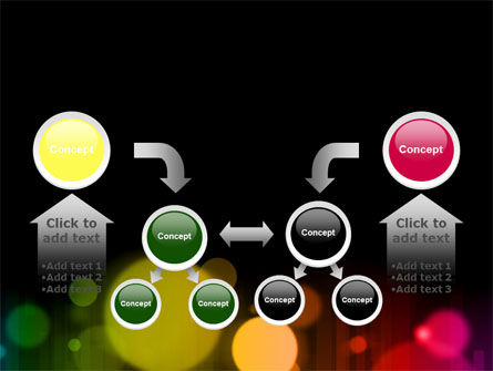Rainbow Bokeh PowerPoint Template Slide 19