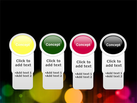 Rainbow Bokeh PowerPoint Template Slide 5