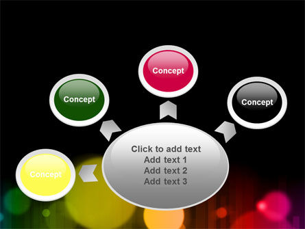 Rainbow Bokeh PowerPoint Template Slide 7