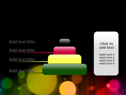 Rainbow Bokeh PowerPoint Template Slide 8