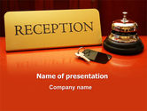 Careers/Industry: Hotel Reception PowerPoint Template #06866