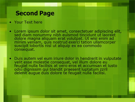 Green Geometric Theme PowerPoint Template Slide 2