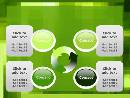 Green Geometric Theme PowerPoint Template Slide 9