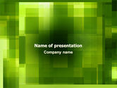 Abstract/Textures: Green Geometric Theme PowerPoint Template #06868
