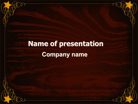 Wooden Theme PowerPoint Template