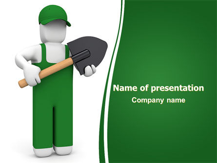 Digger Free PowerPoint Template, 06871, Utilities/Industrial — PoweredTemplate.com