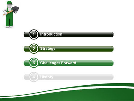 Digger Free PowerPoint Template, Slide 3, 06871, Utilities/Industrial — PoweredTemplate.com