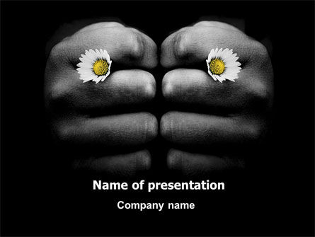 General: Fists and Daisies PowerPoint Template #06872