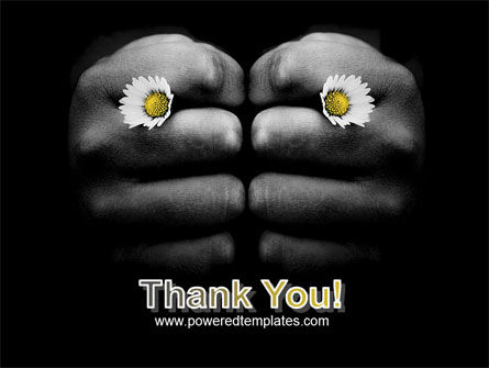 Fists and Daisies PowerPoint Template Slide 20