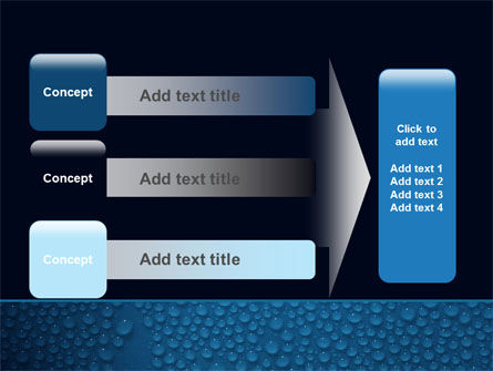 Water Drops On A Deep Blue Background PowerPoint Template Slide 12