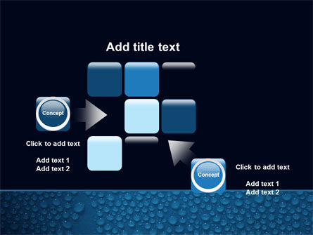 Water Drops On A Deep Blue Background PowerPoint Template Slide 16