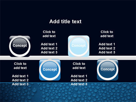 Water Drops On A Deep Blue Background PowerPoint Template Slide 19
