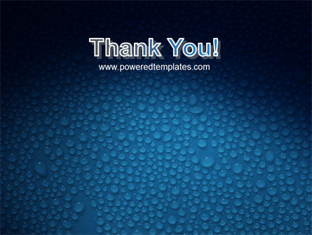 Water Drops On A Deep Blue Background PowerPoint Template Slide 20