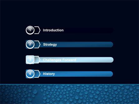 Water Drops On A Deep Blue Background PowerPoint Template Slide 3