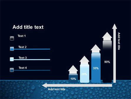 Water Drops On A Deep Blue Background PowerPoint Template Slide 8