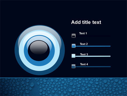 Water Drops On A Deep Blue Background PowerPoint Template Slide 9