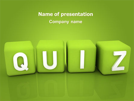 Education & Training: Quiz PowerPoint Template #06875