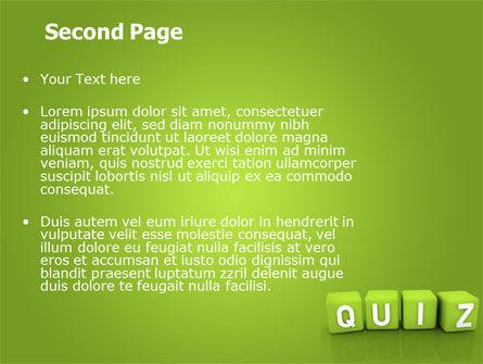 Quiz PowerPoint Template Slide 2