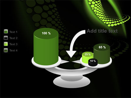 Abstract Spiral Green PowerPoint Template Slide 10
