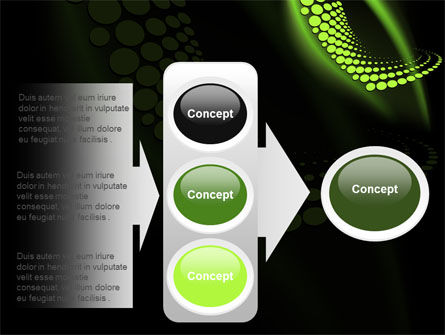 Abstract Spiral Green PowerPoint Template Slide 11