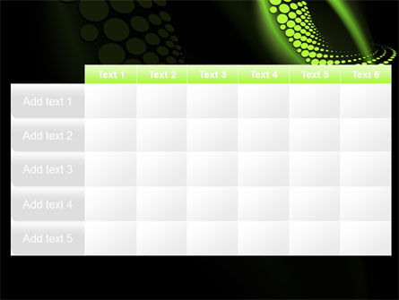 Abstract Spiral Green PowerPoint Template Slide 15