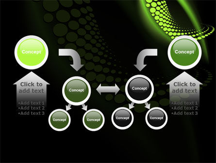 Abstract Spiral Green PowerPoint Template Slide 19