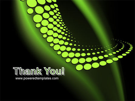 Abstract Spiral Green PowerPoint Template Slide 20