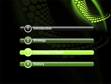 Abstract Spiral Green PowerPoint Template Slide 3