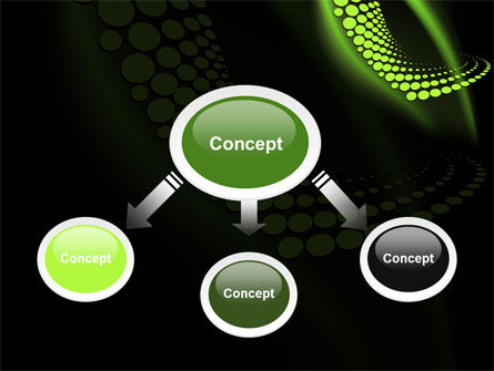 Abstract Spiral Green PowerPoint Template Slide 4