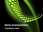 Abstract/Textures: Abstract Spiral Green PowerPoint Template #06877