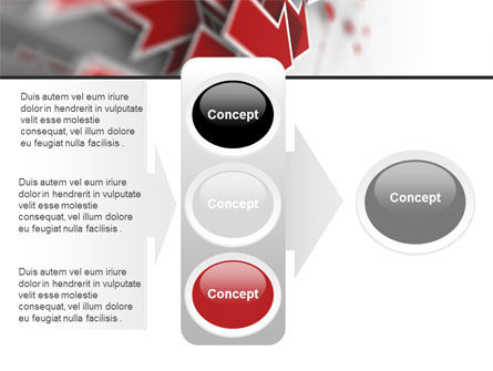 Red Arrows PowerPoint Template Slide 11