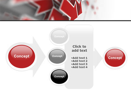 Red Arrows PowerPoint Template Slide 17