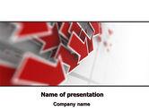 Consulting: 赤い矢印 - PowerPointテンプレート #06878