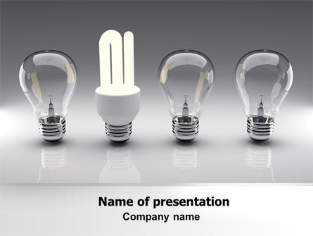 Technology and Science: Economy Light Bulb PowerPoint Template #06880