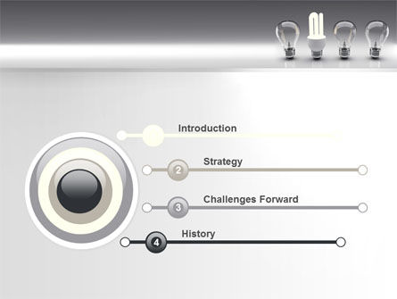 Economy Light Bulb PowerPoint Template, Slide 3, 06880, Technology and Science — PoweredTemplate.com