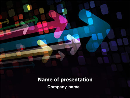 Colorful Arrows PowerPoint Template, 06881, Business Concepts — PoweredTemplate.com