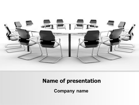 Roundtable Discussion PowerPoint Template, 06883, Business — PoweredTemplate.com