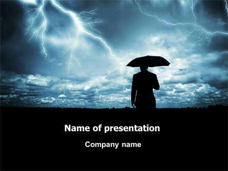 Stormy Times PowerPoint Template, 06884, Consulting — PoweredTemplate.com