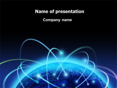 Technology and Science: World Infosphere PowerPoint Template #06885
