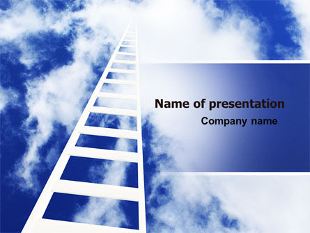 Careers/Industry: Ladder to Heaven PowerPoint Template #06887