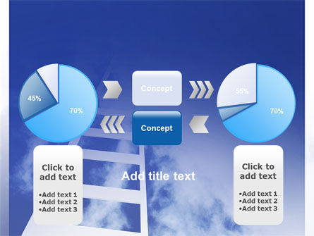 Ladder to Heaven PowerPoint Template Slide 11