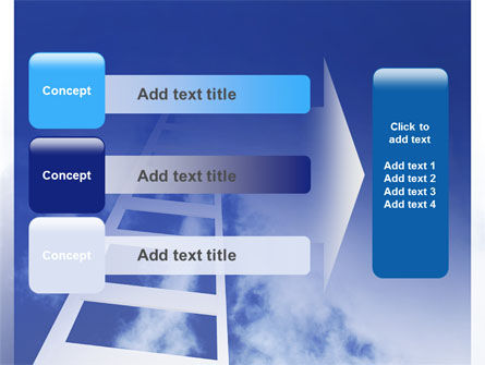 Ladder to Heaven PowerPoint Template Slide 12