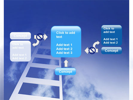 Ladder to Heaven PowerPoint Template Slide 13