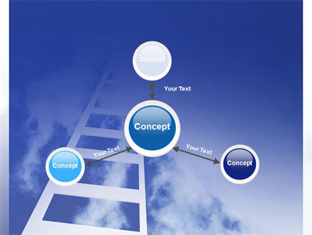Ladder to Heaven PowerPoint Template Slide 14