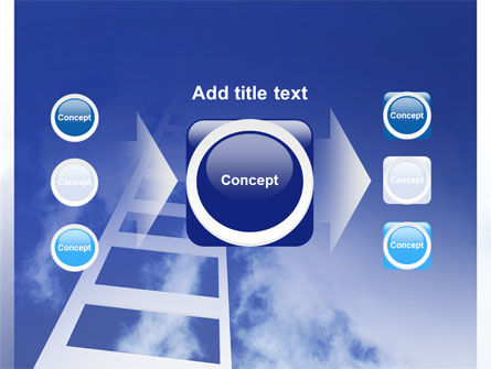 Ladder to Heaven PowerPoint Template Slide 17