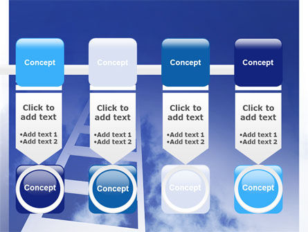 Ladder to Heaven PowerPoint Template Slide 18