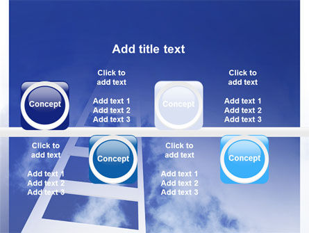 Ladder to Heaven PowerPoint Template Slide 19