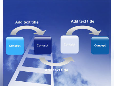 Ladder to Heaven PowerPoint Template, Slide 4, 06887, Careers/Industry — PoweredTemplate.com