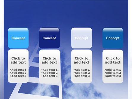 Ladder to Heaven PowerPoint Template Slide 5