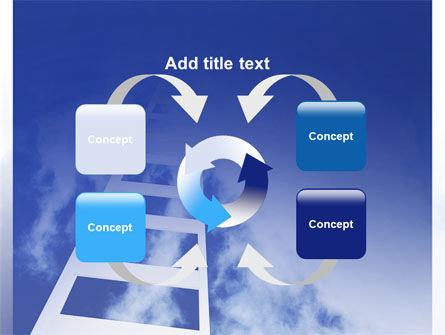 Ladder to Heaven PowerPoint Template Slide 6